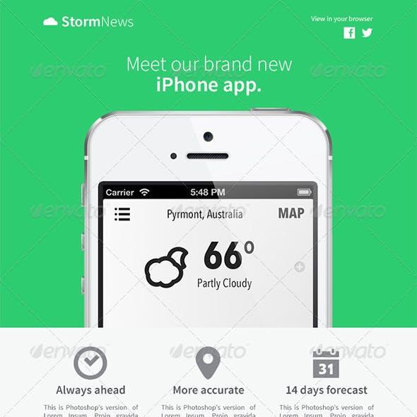 StormNews eNewsletter Template - 3 Colors