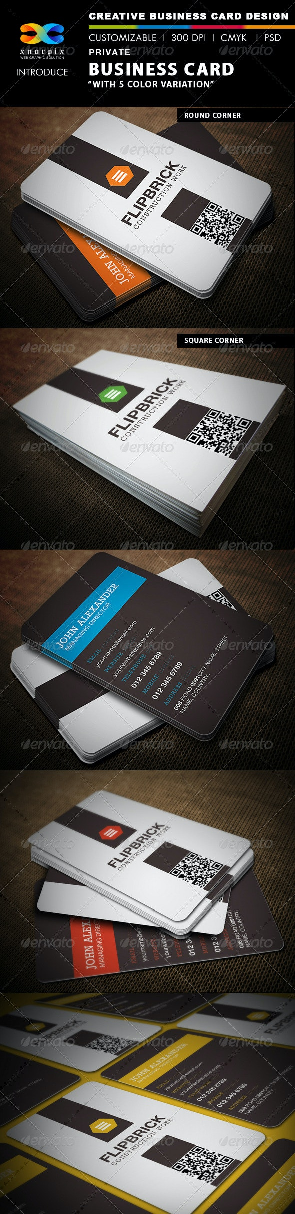 Private Business Card - Corporate Business Cards