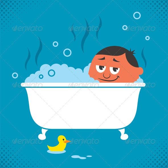 Bathtub Relaxation - Health/Medicine Conceptual