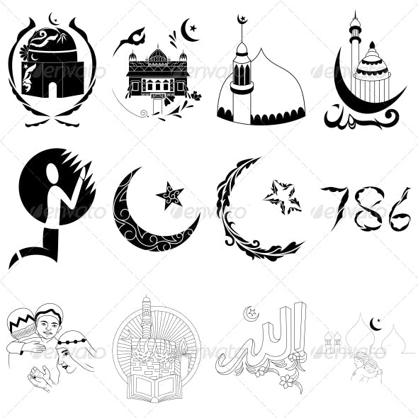Islamic Religious Signs - Vector Designs Pack