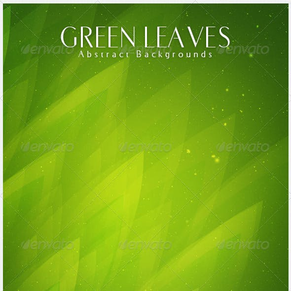 Green Leaves  Abstract Backgrounds | V4