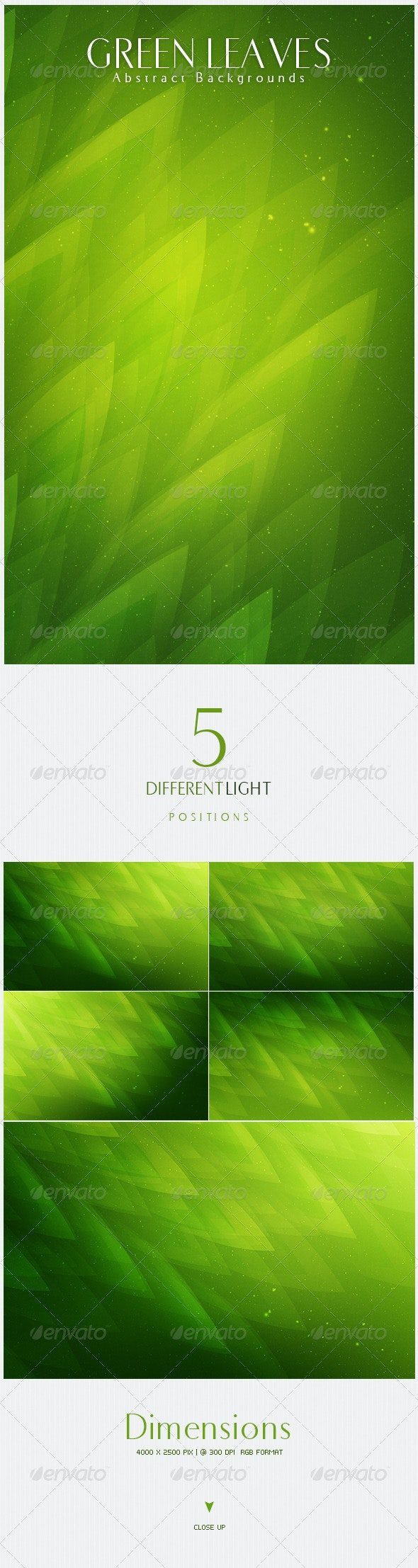 Green Leaves  Abstract Backgrounds   V4 - Nature Backgrounds