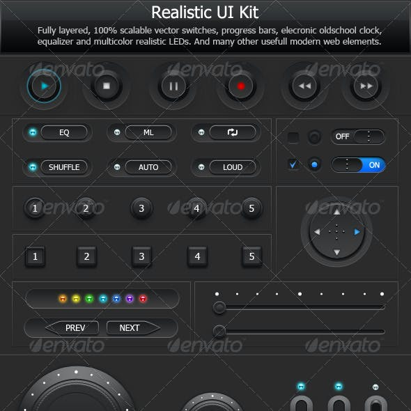 Realistic User Interface Kit