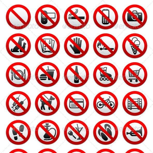 140 Prohibited Symbols
