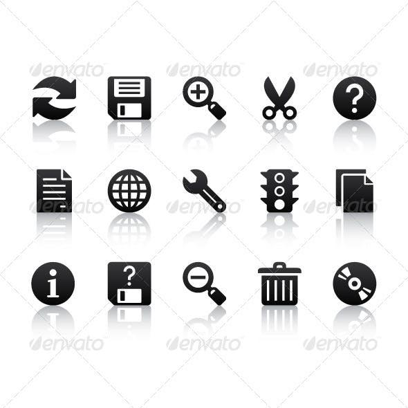 Black Basic Icons
