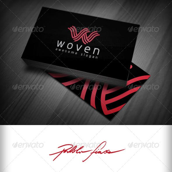 Letter W - Interlocking Wavy Abstract Lines W Logo