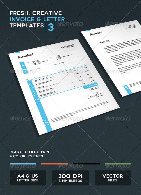 Invoice & Letter Templates III - Proposals & Invoices Stationery