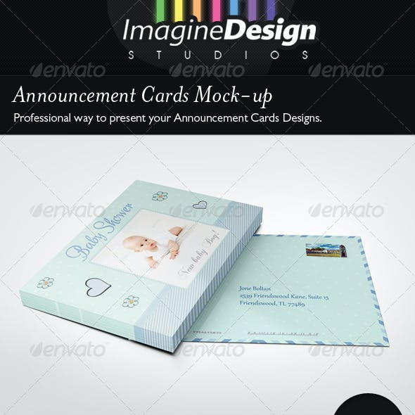 Announcement Cards Mock-Ups
