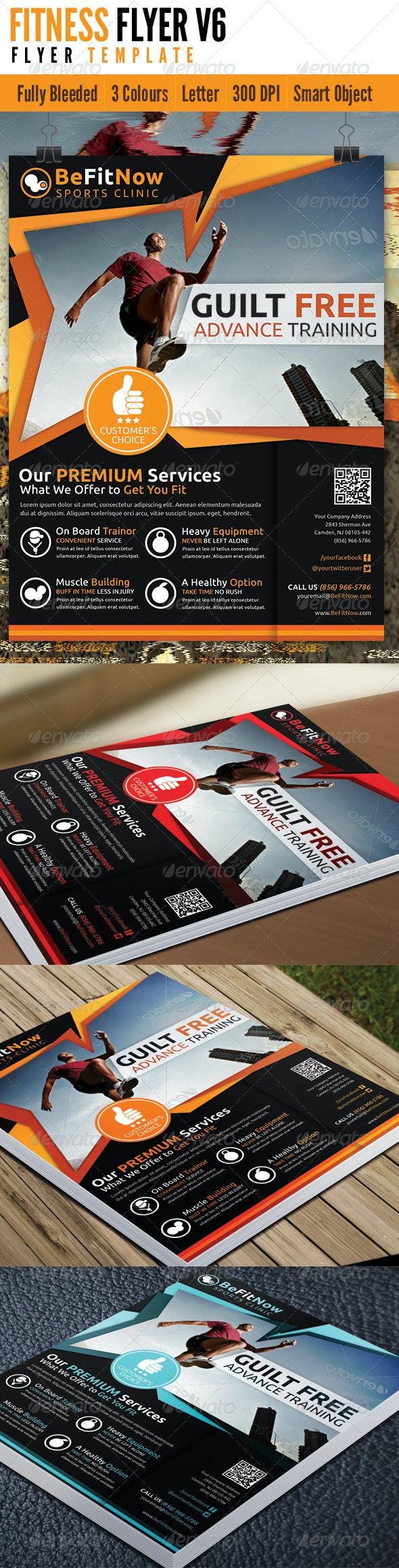 Fitness Flyer V6 - Flyers Print Templates