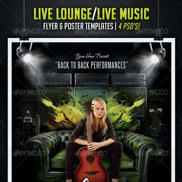 Live Lounge / Live Music Posters & Flyers