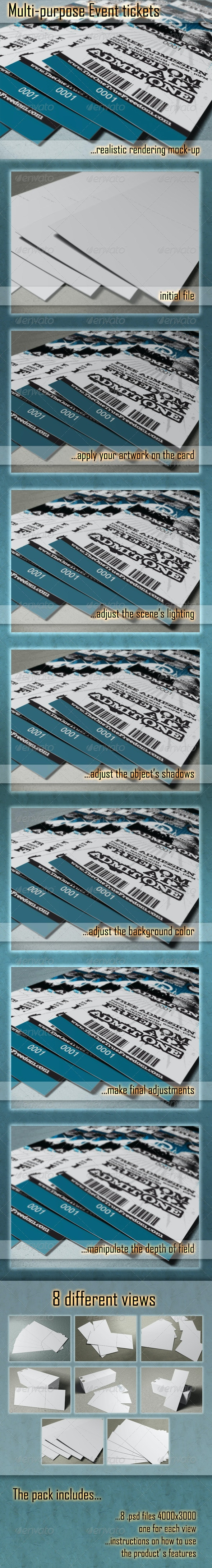Photorealistic Ticket Mock-Ups - Miscellaneous Print