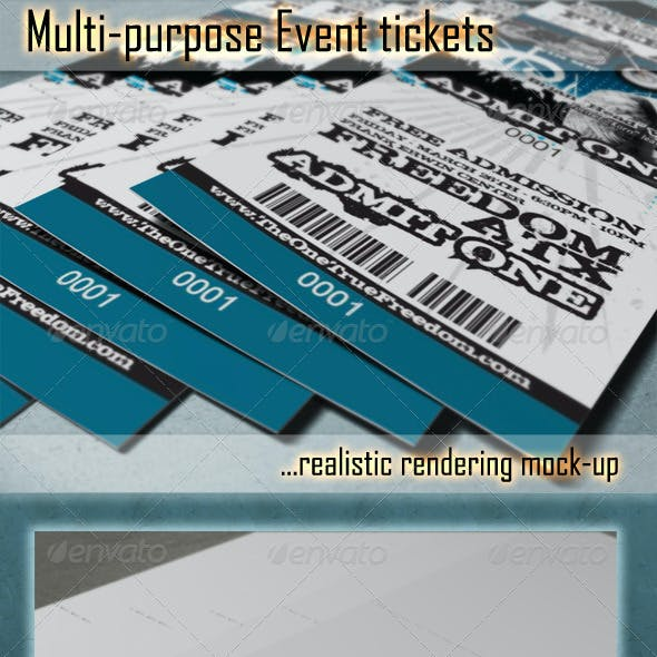 Photorealistic Ticket Mock-Ups