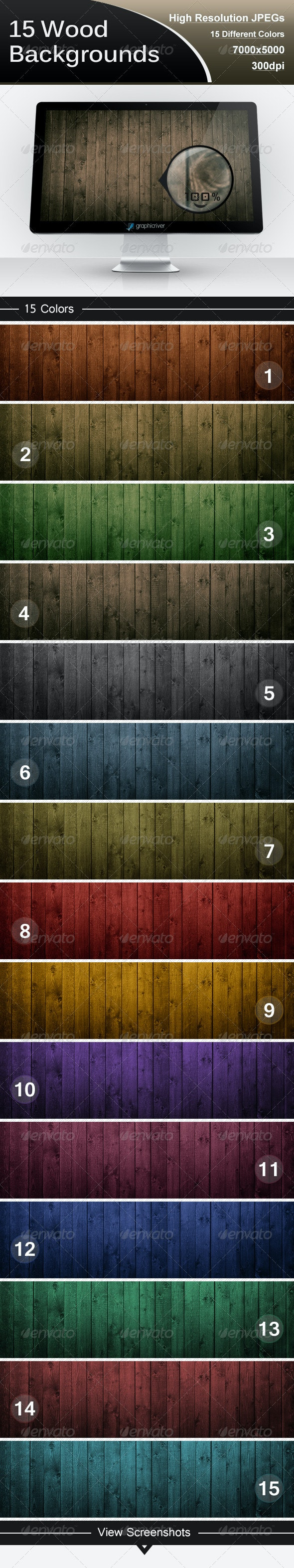 15 Wood Backgrounds - Backgrounds Graphics