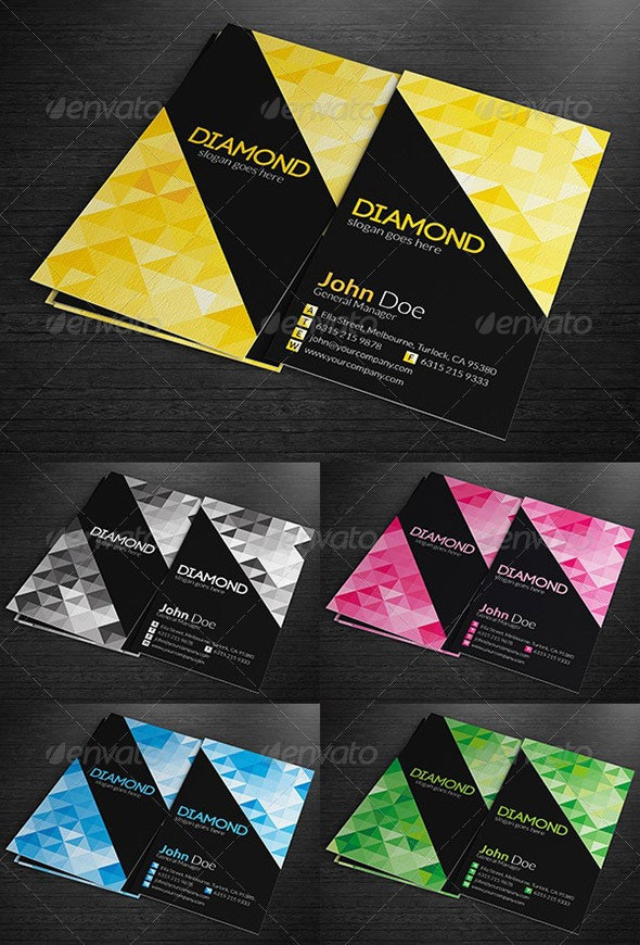 Multipurpose Business Cards - Diamond - Creative Business Cards