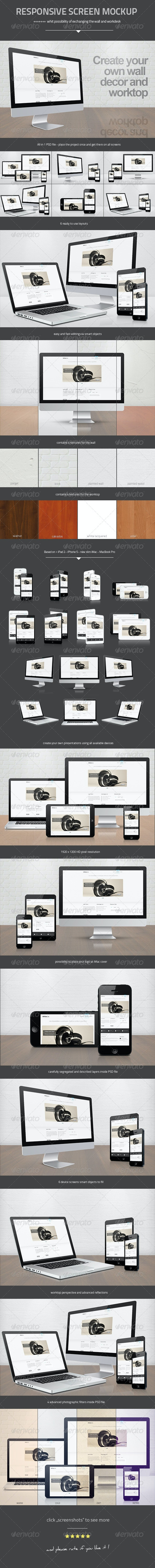 Responsive Screen Mock-up - Miscellaneous Apparel