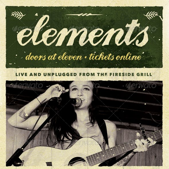 Elements - Acoustic Unplugged Flyer Template
