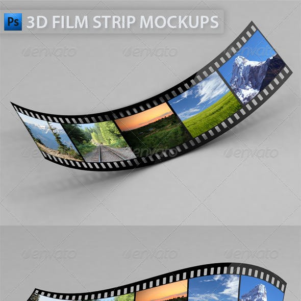 3D Film Strip Mock-Ups