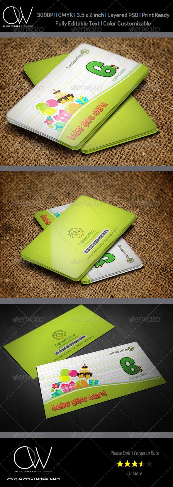 Gift Voucher Card Vol 5 - Cards & Invites Print Templates