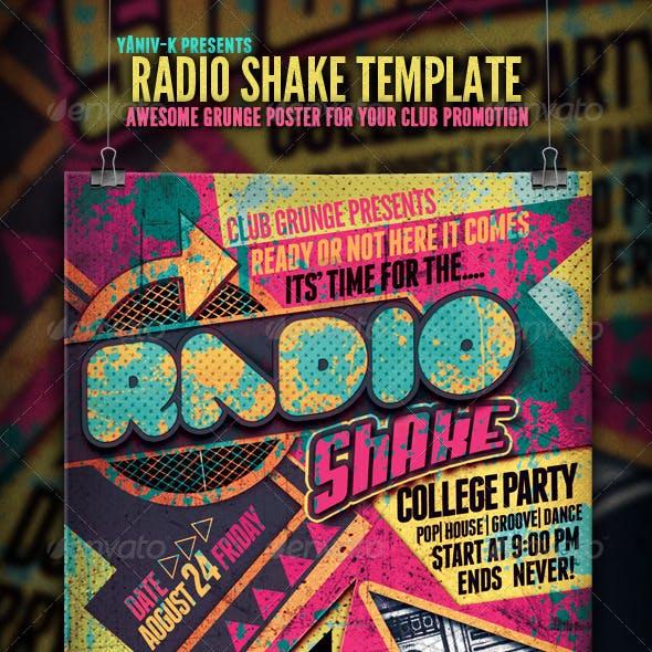 Radio Shake Flyer Template