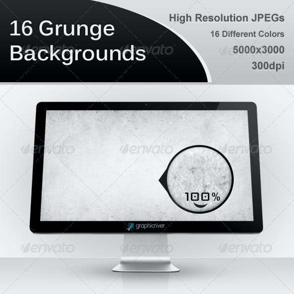 16 Grunge Backgrounds