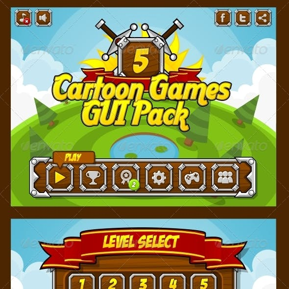 Cartoon Games GUI Pack 5
