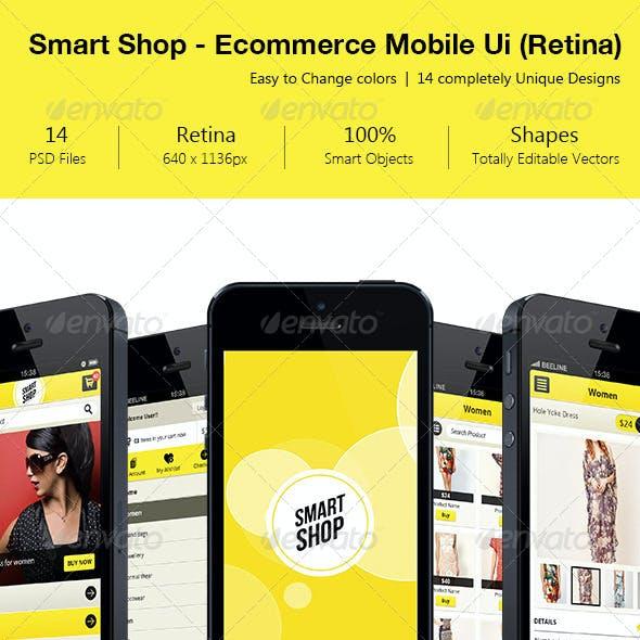 Smart Shop E-commerce Retina Mobile Ui