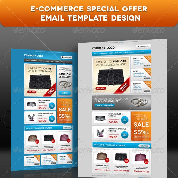E-commerce Special Offer Email Template Design