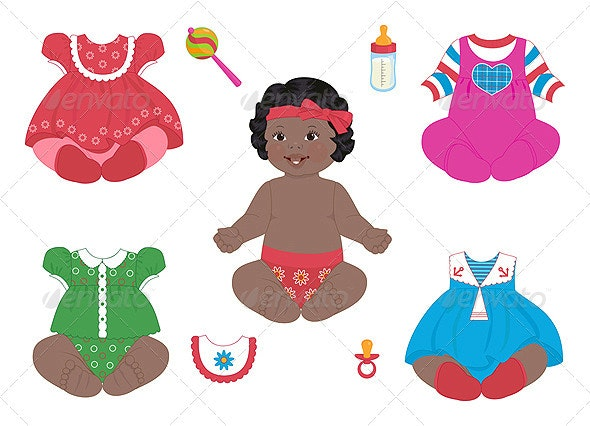 African baby-girl - People Characters