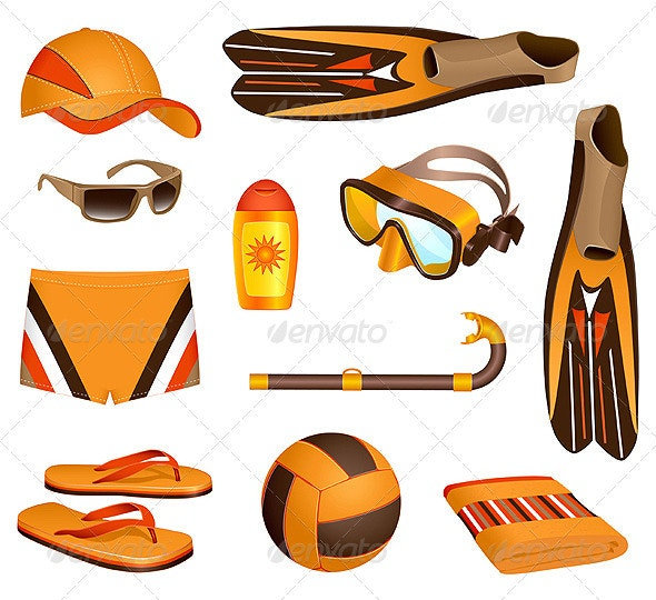Beach accessories for man - Man-made Objects Objects