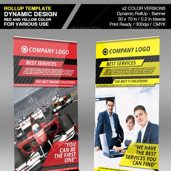 Dynamic Company RollUp Banner