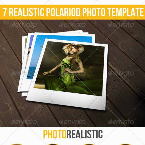 7 Realistic Instant Photo Templates