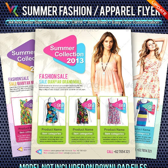 Summer Fashion Collection Flyer