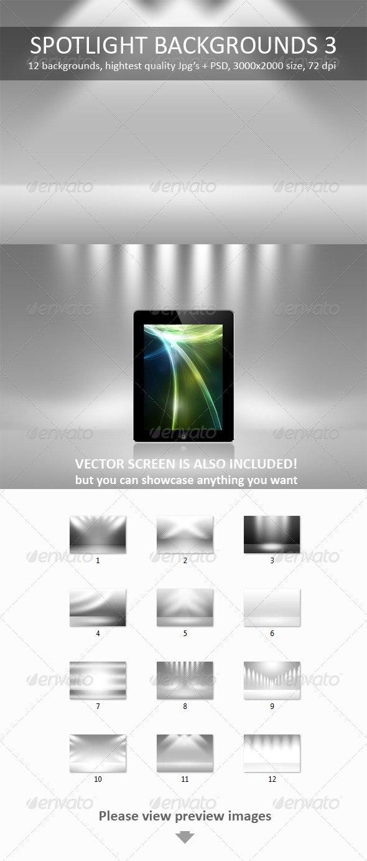 12 Spotlight Backgrounds Pack 3 - Backgrounds Graphics