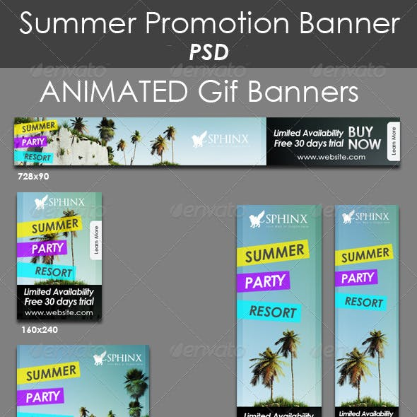 Summer Promote Banners