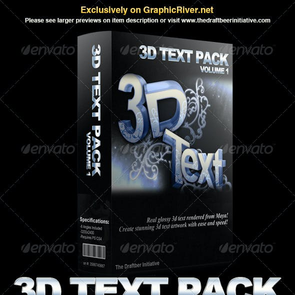 Glossy 3d Text Pack