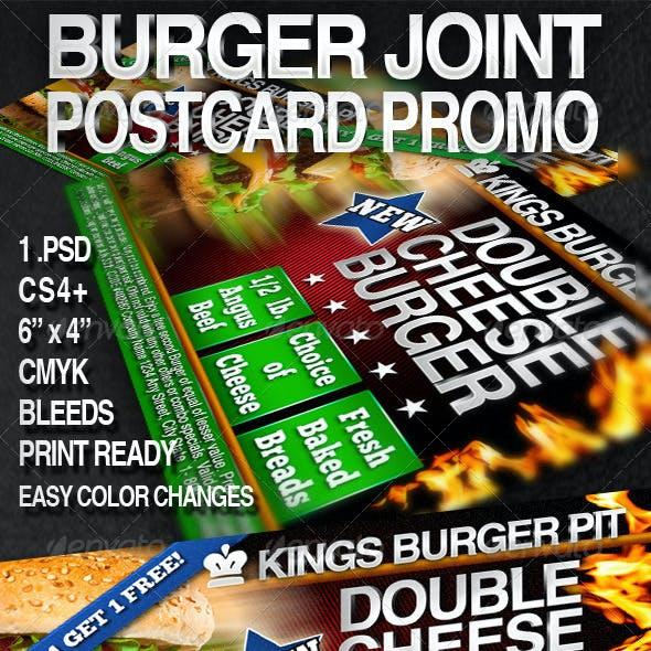 Burger Postcard Promo 6x4