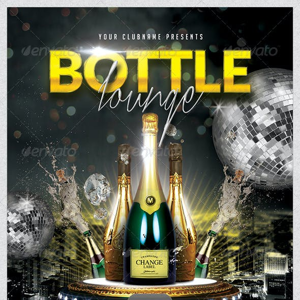 Bottle Lounge Flyer Template