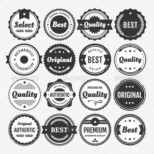 Premium Vector Badge and Label Elements Collection