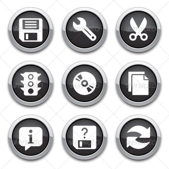 Black Basic Application Buttons