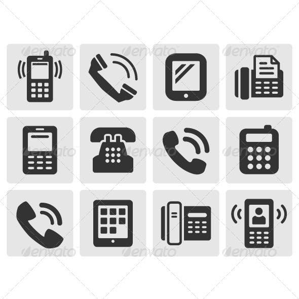 Black Phone Icons