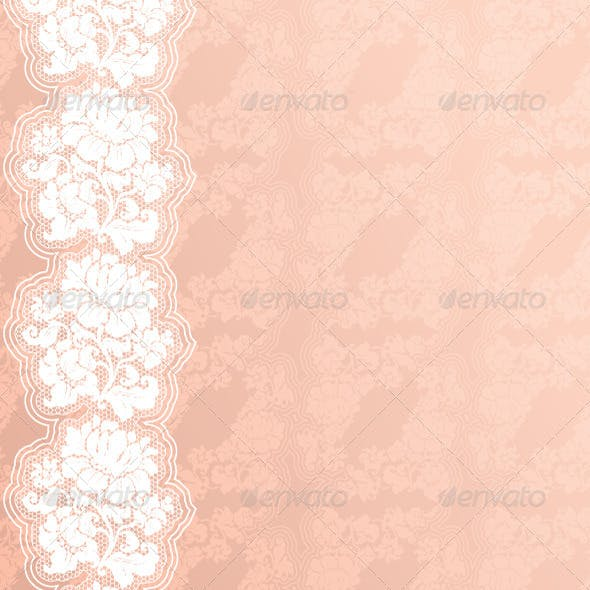 Floral Background with Lace