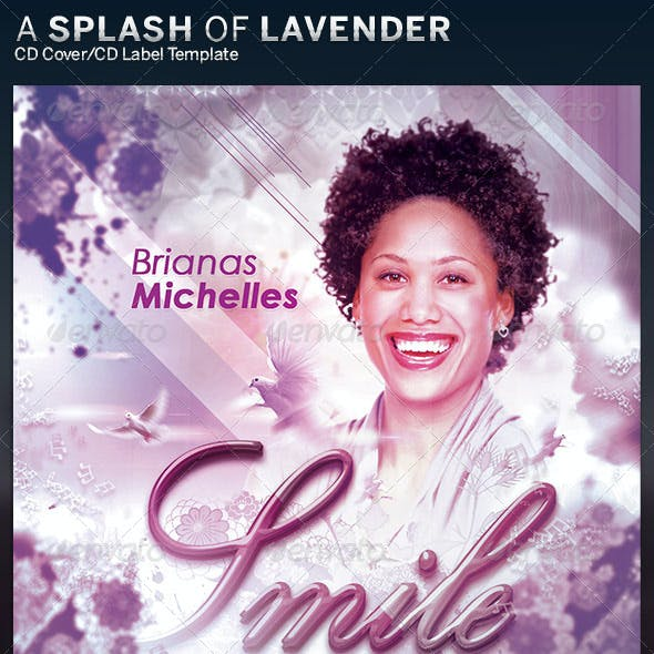 A Splash of Lavender CD Insert and Label