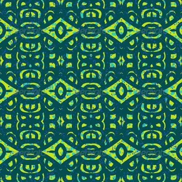 Pattern with Bold Ethnic Stylized Ornaments