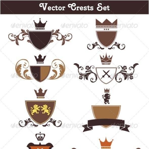 Vector Crests Set