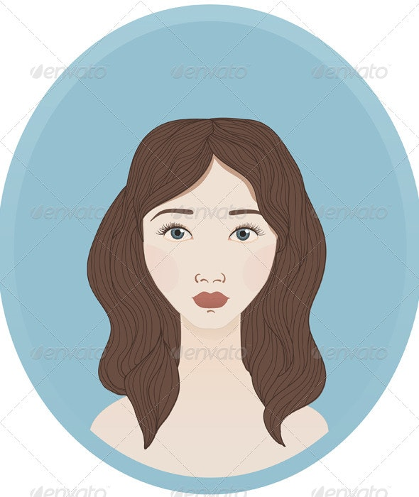 Brunette Woman With Fair Skin By Helga Wigandt Graphicriver
