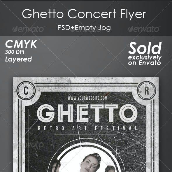 Ghetto Concert Flyer