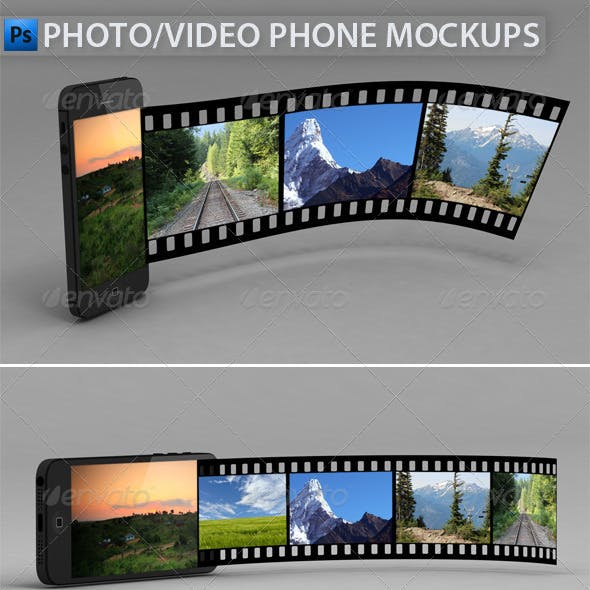 Video/Photo Phone Mock-Ups