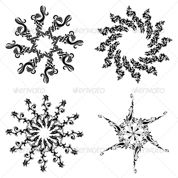 Circular Floral Designs - Vector Pack