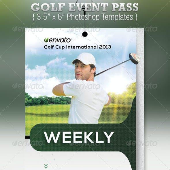 Golf Event Pass Template