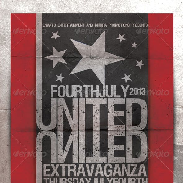 United 4th July / Independence Day Flyer Template